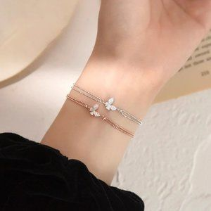 NEW 925 Sterling Shining Butterfly Bracelet